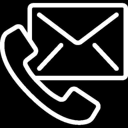 Ikona kontakt e-mail i telefon